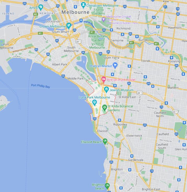 St Kilda Map Area